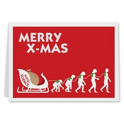Merry X-Mas Holiday Card - [5'' X 7'']