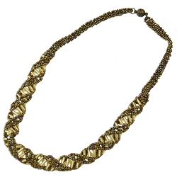 DNA Earth Beaded Necklace - [18'' Long]