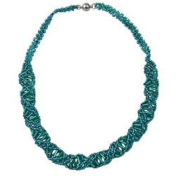 DNA Emerald Beaded Necklace - [18'' Long]