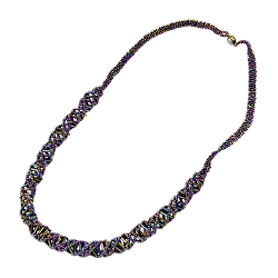 DNA Purple Iris Beaded Necklace - [18'' Long]