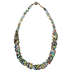 DNA Multicolored Beaded Necklace - [18'' Long]