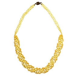 DNA Gold Beaded Necklace - [18'' Long]