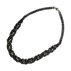DNA Black Beaded Necklace - [18'' Long]