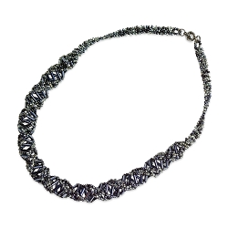 DNA Hematite Beaded Necklace - [18'' Long]