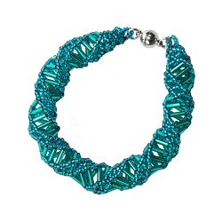 DNA Emerald Beaded Bracelet - [9.5