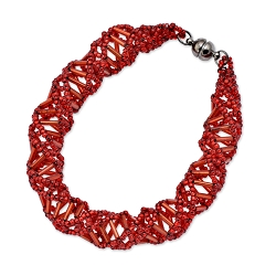 DNA Red Beaded Bracelet - [9.5'' Long]