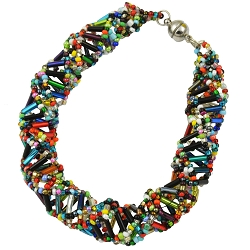 DNA Multicolored Beaded Bracelet - [9 1/2'' Long]