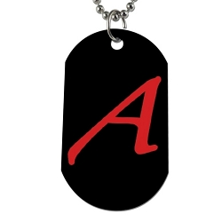Scarlet A for Atheist Dog Tag - [2'' Tall]