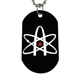 Atheist Atom Dog Tag - [2'' Tall]