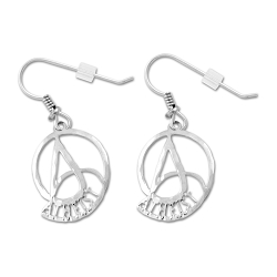 Nautilus Circle A for Atheist Earrings - [7/8'' Tall]