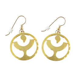 Unitarian Universalist Flaming Chalice Gold Earrings - [1'' Diameter]