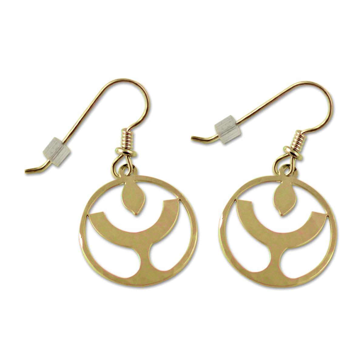 Peace Symbol Silver Earrings 3//4 Diameter