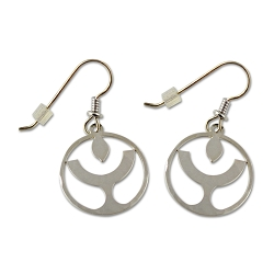 Unitarian Universalist Flaming Chalice Earrings - [3/4