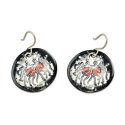 FSM Flying Spaghetti Monster Ceramic Earrings - [1.25