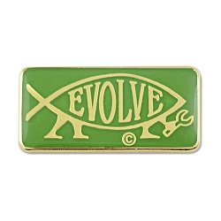 EvolveFish Rectangle Lapel Pin - 1
