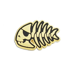 FSM Jolly Pirate Fish Lapel Pin - [1'' Wide]