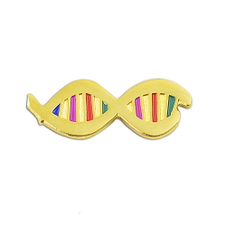 DNA with Color Lapel Pin - [Gold][1