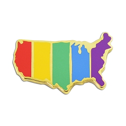 Rainbow Pride USA Flag Lapel Pin - [1