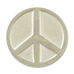 Peace Symbol Lapel Pin - [Silver][3/4'' Diameter]