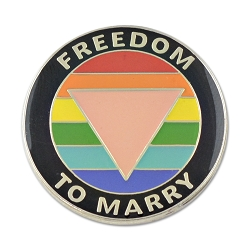 Freedom to Marry Lapel Pin - [1'' Diameter]