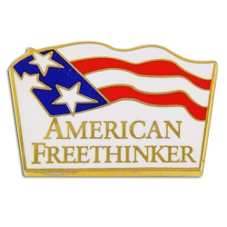 American Free Thinker Lapel Pin - [7/8'' Wide]