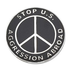 Stop Aggression Peace Lapel Pin - [1'' Diameter]