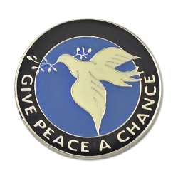 Give Peace a Chance Dove Lapel Pin - [1'' Diameter]