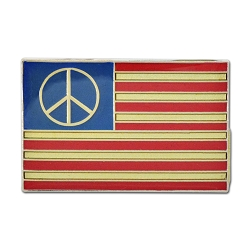 Peace American Flag Lapel Pin - [1.5'' Wide]
