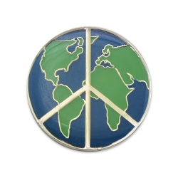 World Peace Lapel Pin - [1'' Diameter]