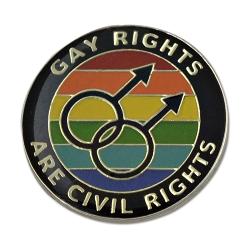 Gay Rights are Civil Rights Lapel Pin - 1