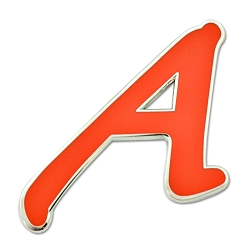 Scarlet A for Atheist Lapel Pin - [1