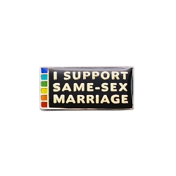 I Support Same-Sex Marriage Lapel Pin - [1'' Wide]