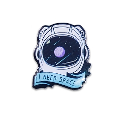 I Need Space Lapel Pin - [1'' Tall]