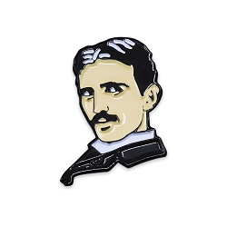 Nikola Tesla Portrait Lapel Pin - [1'' Tall]