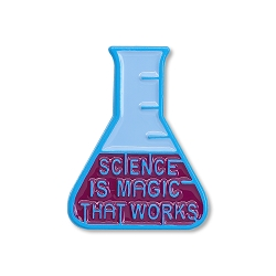 Science is Magic that Works Beaker Lapel Pin - [1'' Tall]