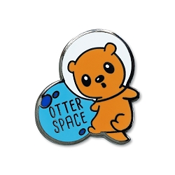 Otter Space Lapel Pin - [1'' Tall]