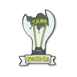 No Idea Lapel Pin - [1 3/8