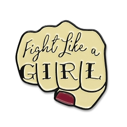 Fight Like a Girl Lapel Pin - [1 1/8