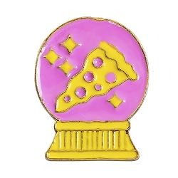 Pizza Snow Globe Lapel Pin - [1