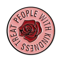 Treat People with Kindness Lapel Pin - [1 1/8'' Diameter]