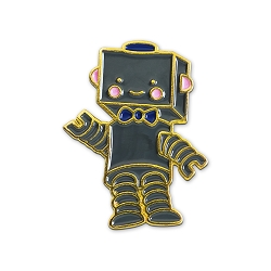 Cute Robot Lapel Pin - [1 1/8'' Tall]