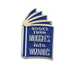 Books Turn Muggles into Wizards Lapel Pin - [1