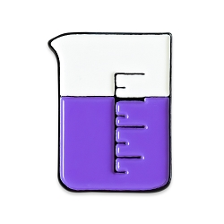 Chemistry Beaker Lapel Pin - [1'' Tall]