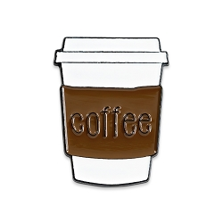 Coffee Cup to Go Lapel Pin - [1 1/4