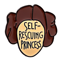 Self Rescuing Princess Lapel Pin - [1'' Tall]
