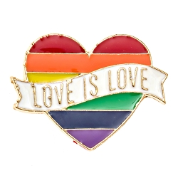 Love is Love Pride Heart Lapel Pin - [1'' Wide]