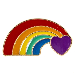 Heart with Rainbow Lapel Pin - [1 3/8