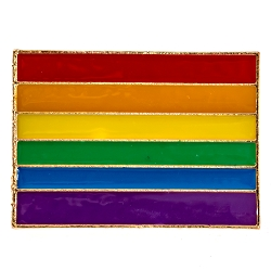 Rainbow Pride Flag Lapel Pin - [1 1/4'' Wide]