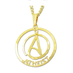 Circle A for Atheist Two Part Necklace - [1'' Diameter]
