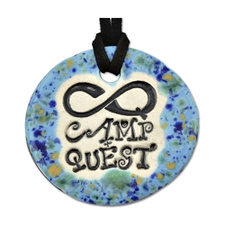 Camp Quest Round Ceramic Necklace - [1 3/4'' Diameter]